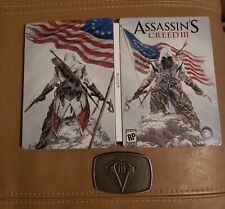 Assassin's Creed III Pre-Order Bonus STEELBOOK CASE & BELT BUCKLE - No Game Inc