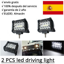 2Pcs 60W LED barra de luz faro de trabajo FOCO Offroad 12V Proyector Jeep 4 inch