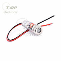 1/2/5PCS  5mW 650nm Red Line Laser Module Focus Adjustable Laser Head 5V