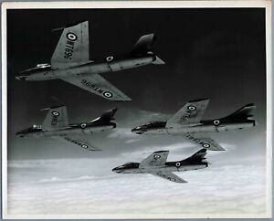 HAWKER HUNTER F1 FORMATION VINTAGE ORIGINAL CHARLES E BROWN PHOTO RAF 54 SQN