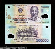 VIETNAM 500,000 DONG P124 2016 Half Million POLYMER UNC 500000 MONEY BANK NOTE