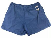 "Columbia PFG Omni Shade Mens 2XL Swim Trunks Fishing Shorts Blue 6"" Hiking"