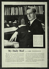John Norman Stuart Buchan Daily Mail Newspaper 1955 1 Page Advert Advertising