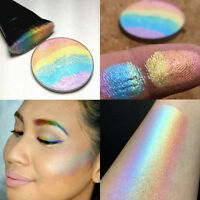 Shimmer Lidschatten-Palette Rainbow Highlighter Rouge Contour Pulver Make-up d