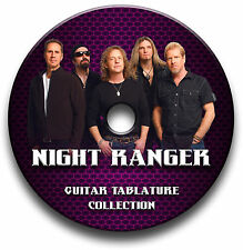 Night ranger rock guitar tabs tablature song book bibliothèque de logiciels cd