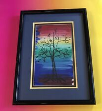 Tree of Life Abstract Modern Art Painting 1961 Signed Vintage Nature