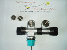 Doppelventil Ventill mit Gratis INT-Adapter NEU 2er Ventil drehbar Markenware
