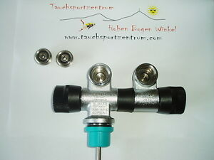 Doppelventil Ventill mit Gratis INT-Adapter NEU Ventil drehbar Markenware Sopras