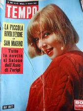 TEMPO n°42 1957 May Britt - Lionelo Venturi - John Charles  [C90]