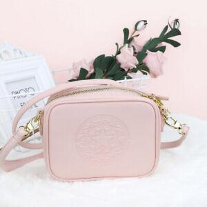 Cardcaptor Sakura sailor moon PU shoulder bag pink satchel storage bag anime