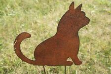 "Katze /""Principessa/"" Kätzchen Edelrost Metall Gartenstecker Gartendeko Naturrost"