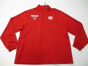 NIKE Jacket Women's Size XL Active 1/4 Zip Pull Over Long Sleeve Red