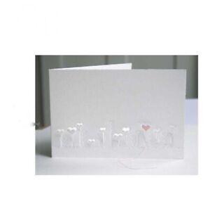 Herz Metall Stencil Cutting Dies Scrapbooking Stanzschablone Embossing DIY Karte