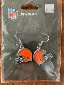 NFL Cleveland Browns Team Logo Earrings by Sisklyou Sports New