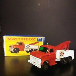 Matchbox Lesney SUPERFAST #71 Ford Wrecker Truck In Original Reg Wheels Box VNM