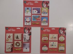 Pack of 36 Christmas Gift Tags  (Choice of 3)