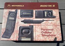 VINTAGE MOTOROLA MICROTAC II - FLIP PHONE - WITH BOX & ORIGINAL PACKAGING