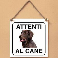 Flat Coated Retriever 7 Attenti al cane Targa cane cartello ceramic tiles