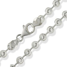 """925 STERLING SILVER BEAD BALL CHAIN 24"""" 5MM SOLID LINK PENDANT NECKLACE GIFT BOX"""