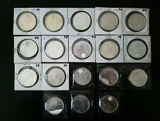 18 MONEDAS DE 2000 PTAS y 12 EUROS. DISTINTAS .324 GRAMOS DE PLATA.. LAS FOTOS