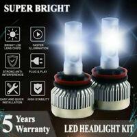 H11 H9 H8 1300W 195000LM LED Fog Light Conversion Kit Bulbs 6000K VS HID 35W 55W