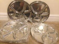 Brand New Still in Bag Set Of 7 Steel Dinner Plates