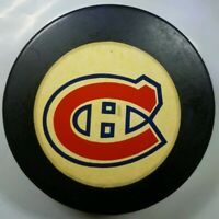 VINTAGE RARE COOPER,APPROVED MONTREAL CANADIENS HABS MADE IN CANADA HOCKEY PUCK