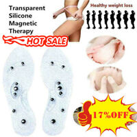 90G Therapie Akupressur Magnetic Massage Schuh Einlegesohlen Gel Auflage Fu G8Y2