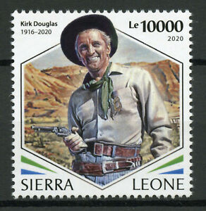 Sierra Leone Famous People Stamps 2020 MNH Kirk Douglas American Actor 1v