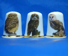 Birchcroft Thimbles -- Set of Three -- Owls