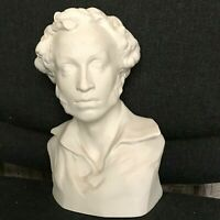 Pushkin Bust Porcelain Russian LFZ 1949 Collectible Vintage Interior Sculpture