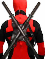 Deadpool Marvel Ninja Dual Katana Swords Set Cosplay Superhero Costume Props 39""
