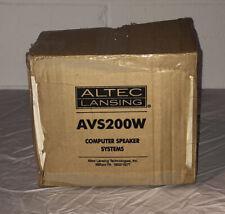 Altec Lansing Computer Speakers  AVS 200 Brand New Still In Box!