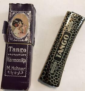 "Vintage German HOHNER HARMONICA  ~ TANGO ~ 5"" w/ Original Box"