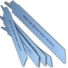 "5 KENT R622HF 6"" BiMetal 10TPI Flexible Reciprocating Saw Blades Wood with Metal"