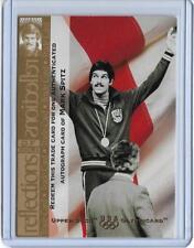 RARE 1996 UD OLYMPIC CHAMPIONS MARK SPITZ AUTO TRADE CARD ~ USA SWIMMING LEGEND