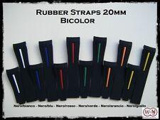Cinturini orologio in gomma bicolore per Rolex 20mm