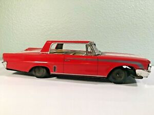 VINTAGE Early 1960's Japanese Japan Friction Tin Car - Bandai or Yonezawa -Ford