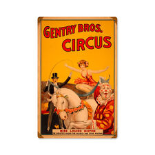 Vintage Style Retro Gentry Circus Steel Sign 12 x18