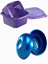 New ! Hutzler 3-in-1 Berry Box-Purple and Blueberry To-Go Snack Container