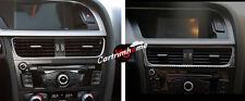 Carbon Fiber Middle Console Air Vent Outlet Cover Trim 1pcs For Audi A5 8T 10-15