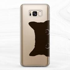 For Samsung S8 S9 S10 Plus S10e Note 8 9 10 Black Cute Cat Animal Men Girl Case