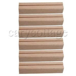 6PCS Card Holders Wood Fit For Office, Home, Hotel Decoration
