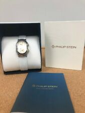 Philip Stein SS Case White Leather Women Watch gold detail Natural frequency