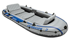 Intex Excursion 5 5-person Inflatable Boat Set With Aluminum Oars and Air Pump
