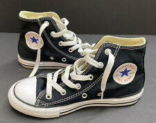 Boy Or Girl 1 (2) CONVERSE Chuck Taylor All Star Black High Top Sneakers ~Fall~