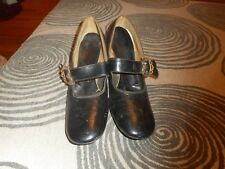 Vintage Womans Shoes Black Miss America By Smartaire Size 8.5