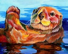 Sea Otter 8X10 Print from Artist Sherry Shipley