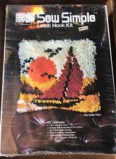 "New listing Vtg Sew Simple ""Red Sails� Latch Hook Kit Style # T554 12x12"" Nip 1982"