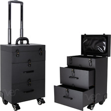 Ver Beauty Rolling Nail Case and Makeup Case Organizer Storage with Drawers